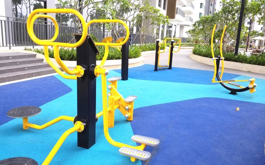 Outdoor fitness corner